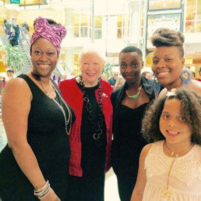 Obeah Operah performers with Elizabeth Dowdeswell,  Lieutenant Governor of Ontario